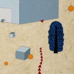 Helle Acrylmalerei von Elke Weickelt mit abstrakten Formen