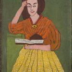 Malerei einer Frau von Ondrej ?šteberl, Lesende