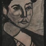 Portrait einer Frau, schwarz-weiß