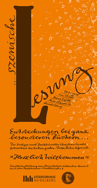 Flyer in Orange gehalten