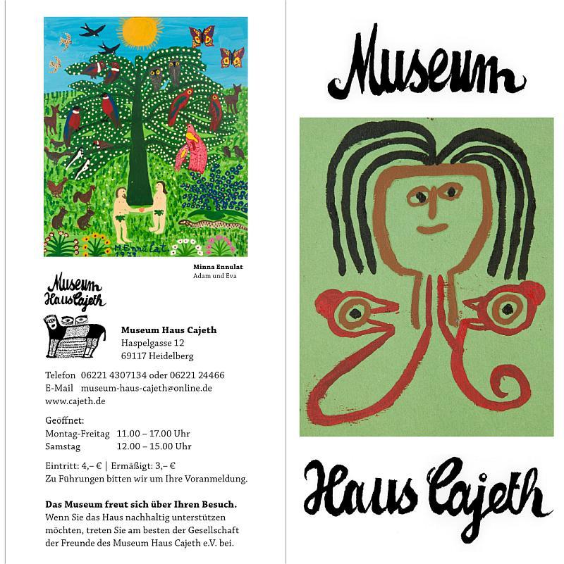 Vorschau auf das Faltblatt des Museum Haus Cajeth