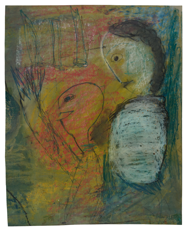 Zeichnung: Eine Mutter mit ihrem Kind.